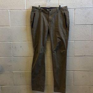 Lululemon men's brown plaid pant sz 38 57319